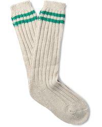 The Elder Statesman Hot Dye Yosemite Socks - White