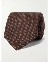 Anderson & Sheppard 9cm Virgin Wool-blend Tie - Brown