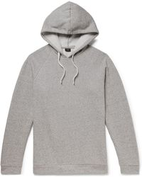 Onia - Aaron Mélange Fleece-back Cotton-blend Jersey Hoodie - Lyst