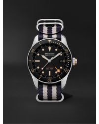 Bremont Supermarine Automatic Gmt 40mm Stainless Steel And Nato Watch - Black