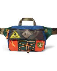 88d7ee920731 Polo Ralph Lauren - Appliquéd Colour-block Nylon Belt Bag - Lyst