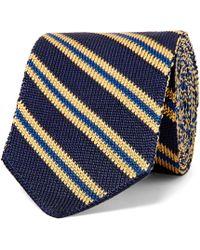 Etro - 6cm Striped Knitted Silk Tie - Lyst