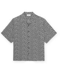 CELINE HOMME Camp-collar Printed Woven Shirt - Black
