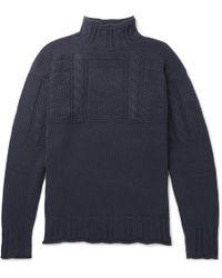 Polo Ralph Lauren - Textured-knit Cotton Mock-neck Sweater - Lyst