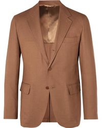 Camoshita - Tan Unstructured Woven Suit Jacket - Lyst