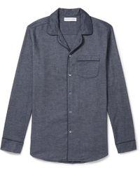 Desmond & Dempsey - Brushed Cotton-twill Pyjama Shirt - Lyst