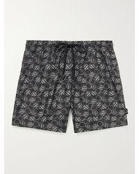 Ermenegildo Zegna Mid-length Printed Swim Shorts - Black