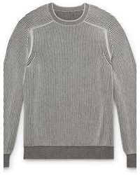 Sease Reversible Ribbed Cashmere Sweater - Grey