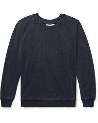 Jungmaven Bonfire Garment-dyed Hemp And Organic Cotton-blend Jersey Sweatshirt - Blue
