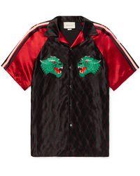 Gucci Panther Bowling Shirt - Black