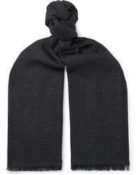 Tom Ford - Fringed Prince Of Wales Checked Mohair, Wool, Linen And Silk-blend Scarf - Lyst