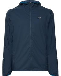 Arc'teryx Incendo Mesh-panelled Lumin Hooded Jacket - Blue