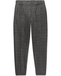 Club Monaco - Plaid Slim-fit Tapered Puppytooth Stretch-wool Trousers - Lyst