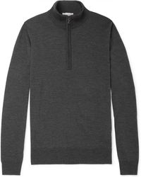 John Smedley - Tapton Slim-fit Merino Wool Half-zip Jumper - Lyst