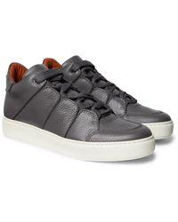 Ermenegildo Zegna Tiziano Leather Trainers - Black
