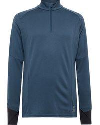On Weather Tech-jersey Half-zip Top - Blue