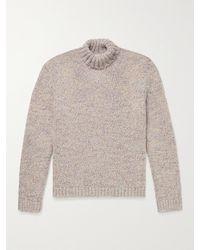 Massimo Alba Wool-blend Rollneck Sweater - Grey