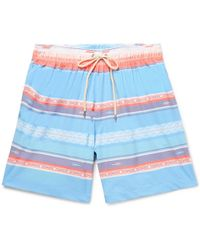 Faherty Brand - Beacon Mid-length Printed Swim Shorts - Lyst