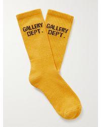 GALLERY DEPT. Clean Logo-jacquard Cotton-blend Socks - Yellow