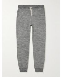 De Bonne Facture Tapered Cotton-jersey Joggers - Grey