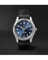 Breitling Navitimer 8 Automatic Chronometer 41mm Steel And Leather Watch, Ref. No. A17314101c1x2 - Blue