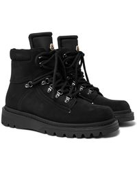 Moncler - Egide Suede And Nylon Boots - Lyst