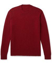 Anderson & Sheppard Shetland Wool Sweater - Red