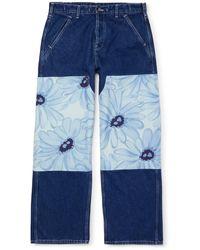 Jacquemus Le De Nîmes Fleurs Jeans - Blue