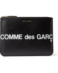 Comme des Garçons - Logo Leather Pouch - Lyst