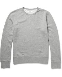 Officine Generale Mélange Loopback Cotton-jersey Hoodie - Grey