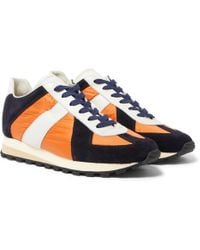 Maison Margiela - Retro Runner Suede, Leather And Shell Trainers - Lyst