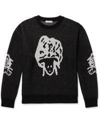 Flagstuff Wool-blend Jacquard Jumper - Black