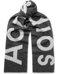 Acne Studios - Toronty Logo-intarsia Wool-blend Scarf - Lyst