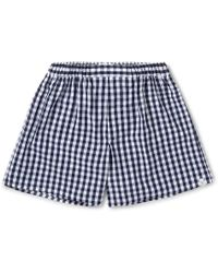Sleepy Jones - Victor Checked Cotton Boxer Shorts - Lyst
