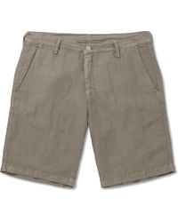 Massimo Alba - Slim-fit Linen And Cotton-blend Shorts - Lyst