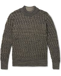 S.N.S Herning Stark Slim-fit Virgin Wool Mock-neck Sweater - Green