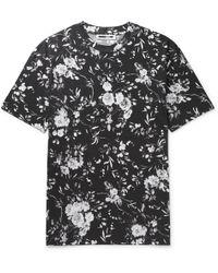 McQ - Floral-print Cotton-jersey T-shirt - Lyst