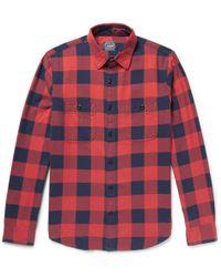J.Crew - Slim-fit Buffalo-checked Cotton-flannel Shirt - Lyst