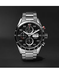 Tag Heuer Carrera Automatic Chronograph 43mm Polished-steel Watch, Ref. No. Cv2a1v.ba0738 - Black