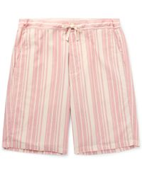 Oliver Spencer - Farrow Striped Organic Cotton Pyjama Shorts - Lyst