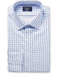 Emma Willis Slim-fit Checked Cotton Oxford Shirt - Blue