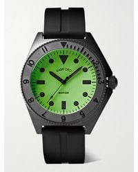 BAMFORD LONDON Mayfair Stainless Steel And Rubber Watch - Black