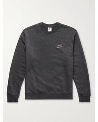 Nike Sport Essentials Logo-appliquéd Cotton-blend Jersey Sweatshirt - Black