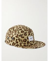 WTAPS Logo-appliquéd Leopard-print Cotton-twill Baseball Cap - Brown