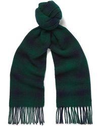 NN07 - Checked Wool Scarf - Lyst