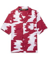 Missoni - Wide Zig-zag Short Sleeve Shirt In Red - Lyst