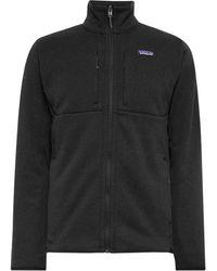 Patagonia Better Jumper Slim-fit Fleece-back Knitted Jacket - Black