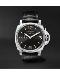Panerai Luminor 1950 3 Days Acciaio 42mm Stainless Steel And Alligator Watch, Ref. No. Pam00676 - Black