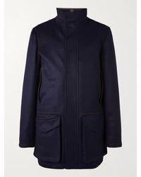 James Purdey & Sons Loden Wool Field Jacket - Blue