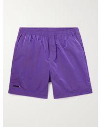 True Tribe Neat Steve Mid-length Iridescent Econyl Swim Shorts - Purple